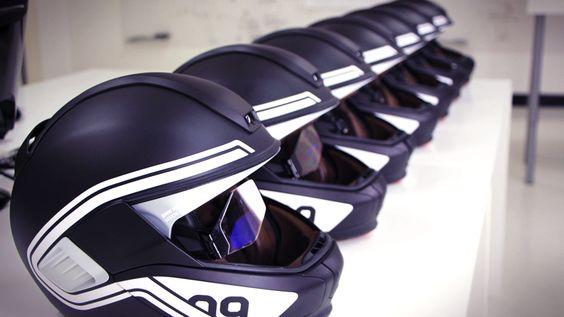 making the motorcycle helmet